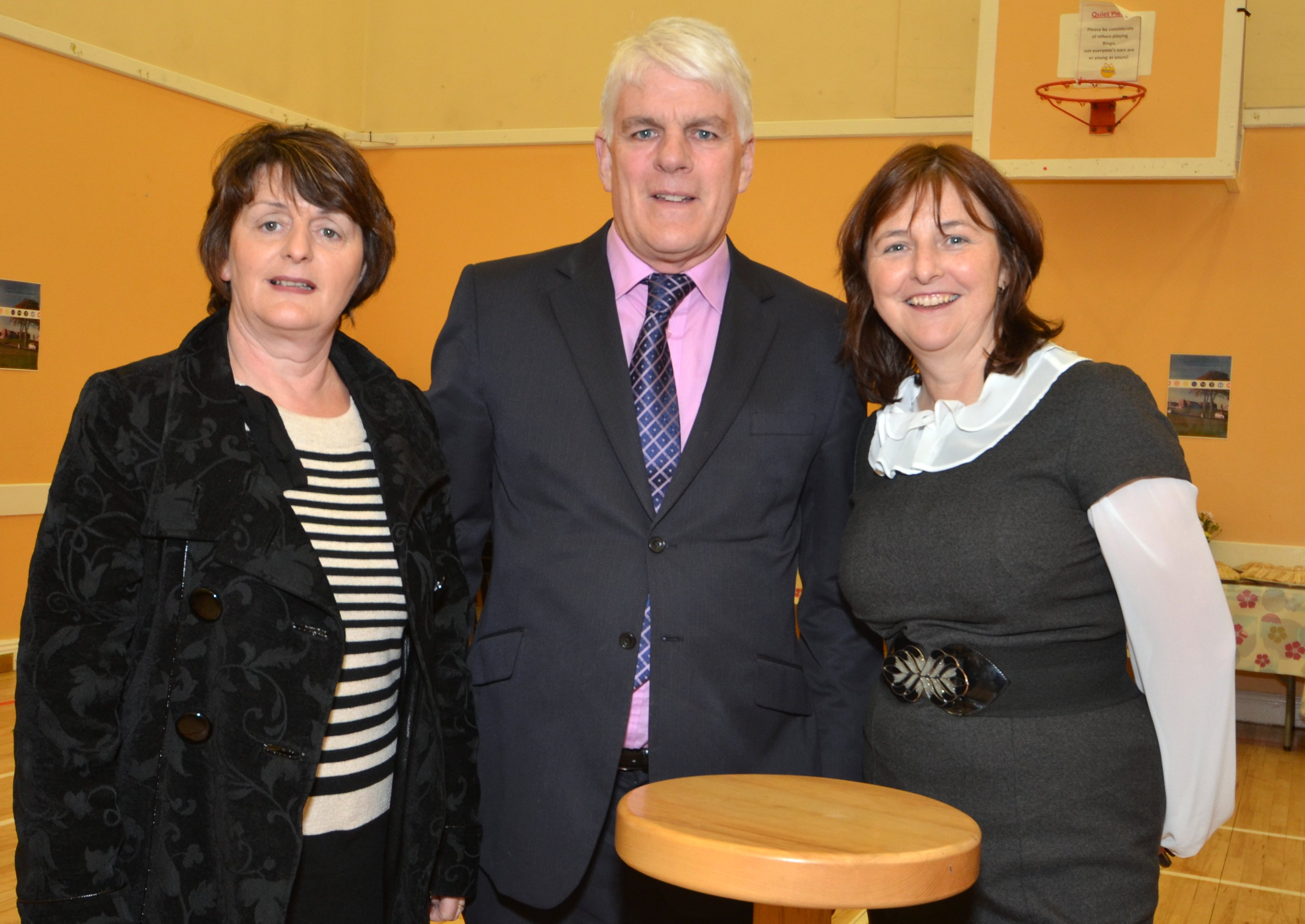 ( from right to left) Anne Marie O'Connor, Coordinator of the Community Companions, with Gerard Kerrins, Volunteer and Breda Duggan, Community Companion